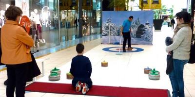 Jeux animation jeu curling