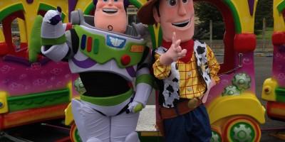 Mascottes buzz et woody