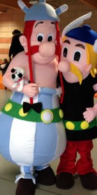 Mascottes Asterix et Obelix