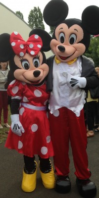 Mascotte Mickey et Minnie